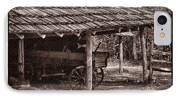 Pioneer Shed Calotype IPhone Case by Travis Burgess