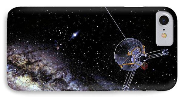 Pioneer Spacecraft In Interstellar Space IPhone Case by Nasa