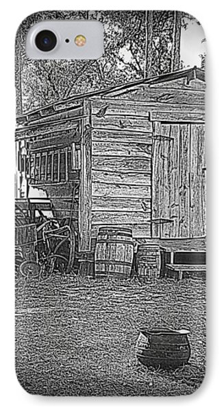 Pioneer Tool Shed Phone Case by Sheri McLeroy
