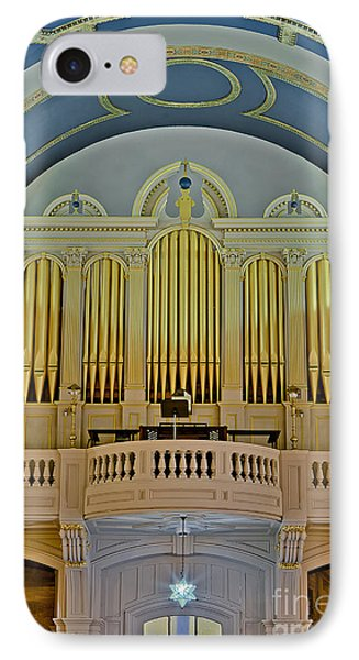 Pipe Organ At Saint Michaels Phone Case by Susan Candelario