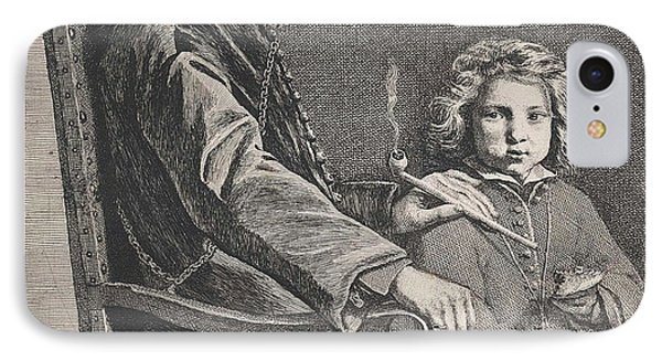 Pipe Smoking Man In Chair, Michael Sweerts IPhone Case
