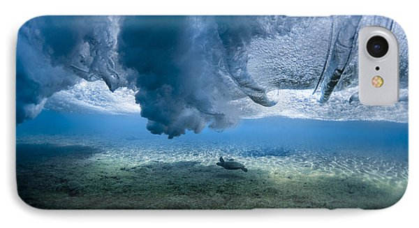 Turtle Turbulence IPhone Case by Sean Davey