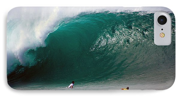 Pipeline Wave Hawaii IPhone Case by Kevin Smith