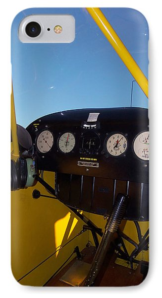 Piper Cub Dash Panel IPhone Case by Chris Mercer
