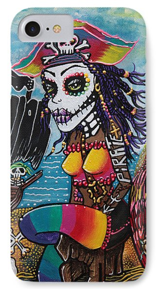 Pirate Girl - Surfs Up Phone Case by Laura Barbosa