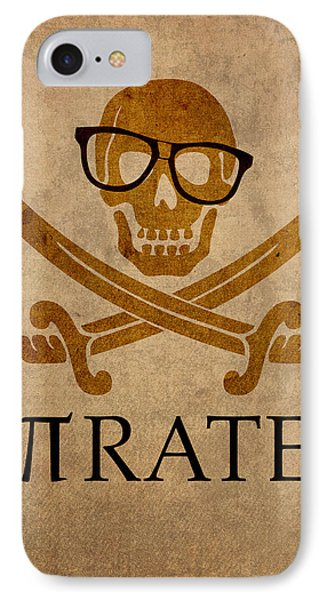 Pirate Math Nerd Humor Poster Art IPhone Case by Design Turnpike