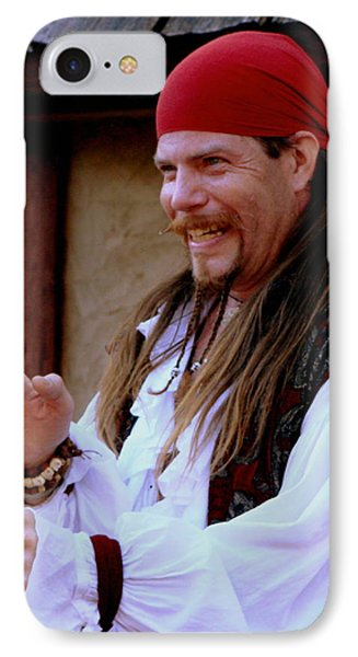 Pirate Shantyman IPhone Case by Rodney Lee Williams