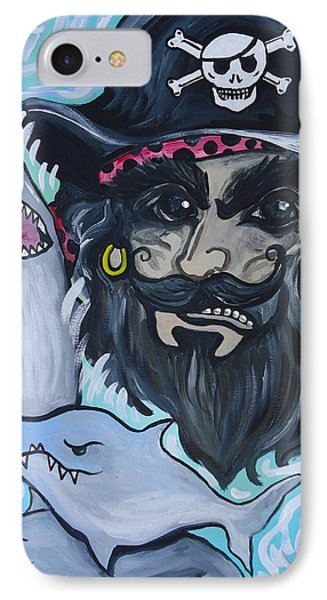 Pirate Shark Tank IPhone Case by Leslie Manley