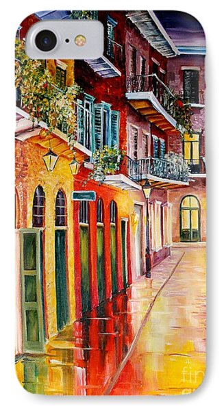 Pirates Alley By Night IPhone Case by Diane Millsap