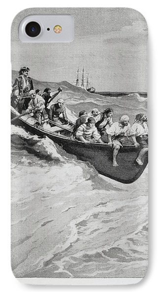 Pirates And Their Captain In A Boat IPhone Case by British Library