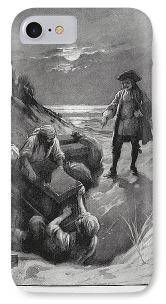 Pirates Burying Treasure IPhone Case by British Library