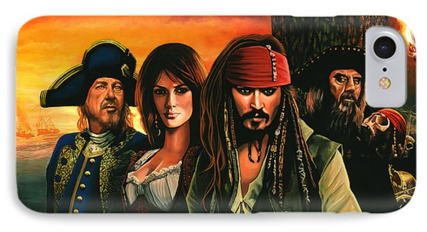Pirates Of The Caribbean  IPhone 7 Case by Paul Meijering