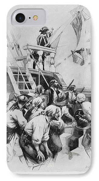Pirates Waiting To Board A Ship IPhone Case by British Library