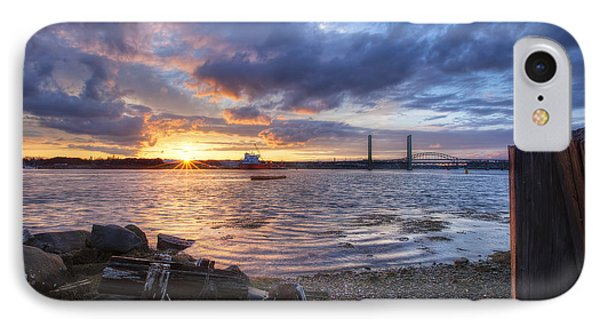 Piscataqua Sunset Phone Case by Eric Gendron
