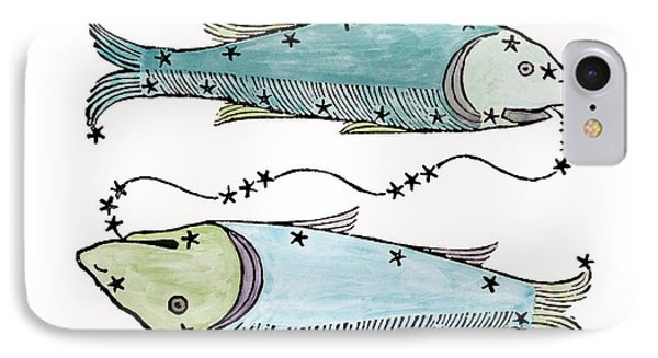 Pisces An Illustration Phone Case by Italian School