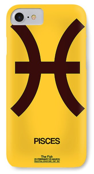 Pisces Zodiac Sign Brown IPhone Case