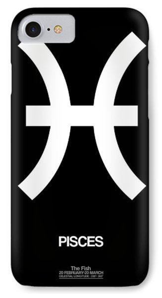 Pisces Zodiac Sign White And Black IPhone Case