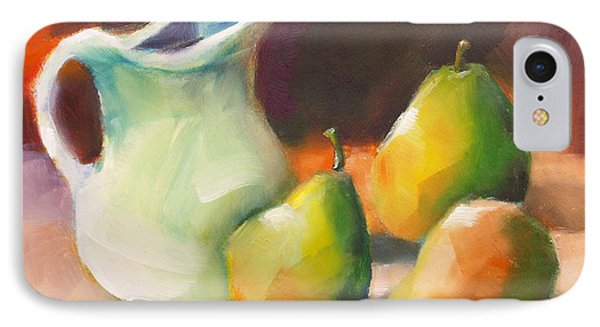 Pitcher And Pears IPhone Case by Michelle Abrams
