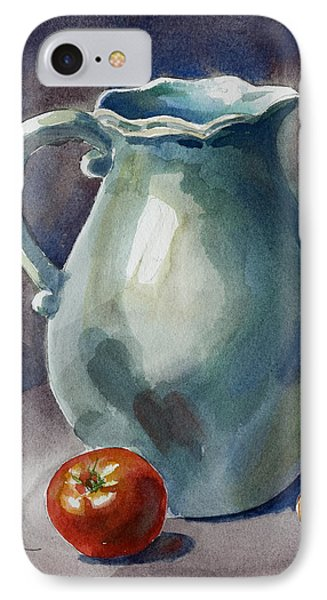 Pitcher With Tomato Phone Case by Pablo Rivera