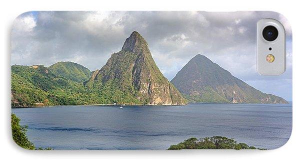 Piton Mountains - Saint Lucia IPhone Case