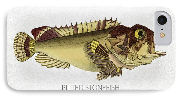 Pitted Stonefish IPhone Case by Aged Pixel