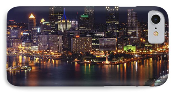 Pittsburgh After The Setting Sun IPhone Case by Michelle Joseph-Long