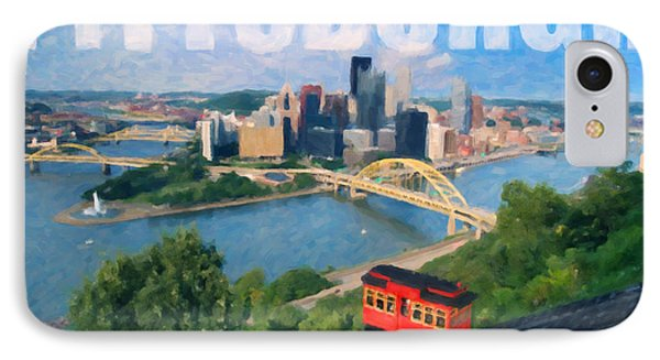 Pittsburgh Digital Painting Phone Case by Sharon Dominick