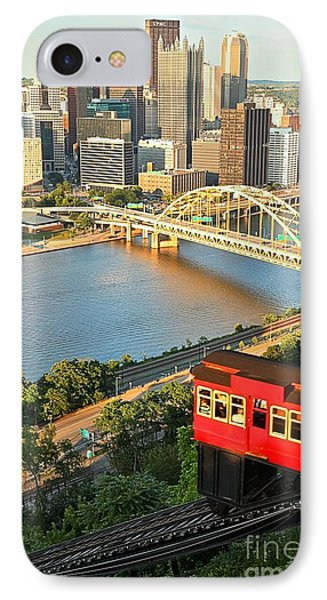 Pittsburgh Duquesne Incline IPhone Case by Adam Jewell
