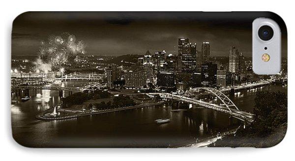 Pittsburgh P A  B W IPhone Case by Steve Gadomski