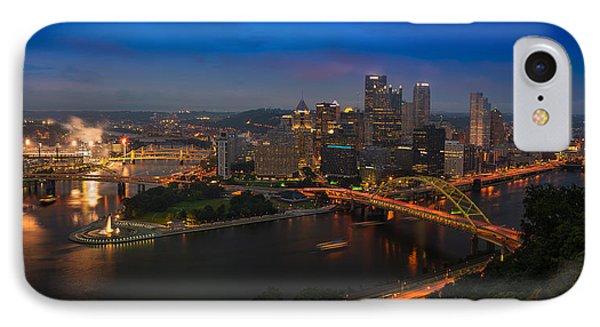 Pittsburgh Pa IPhone Case by Steve Gadomski