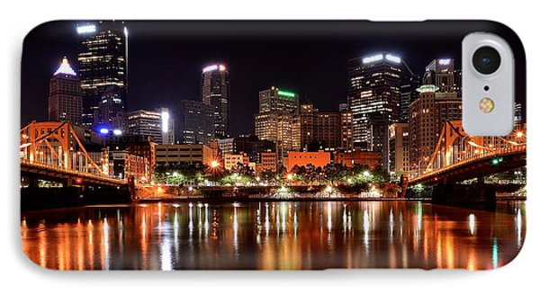 Pittsburgh Panorama IPhone Case by Frozen in Time Fine Art Photography