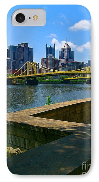 Pittsburgh Pennsylvania Skyline And Bridges As Seen From The North Shore Phone Case by Amy Cicconi