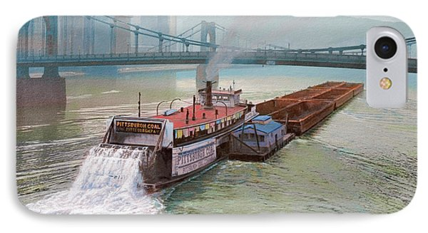 Pittsburgh River Boat-1948 Phone Case by Paul Krapf