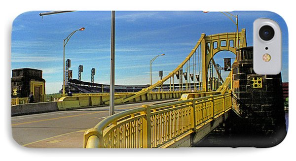 Pittsburgh - Roberto Clemente Bridge Phone Case by Frank Romeo