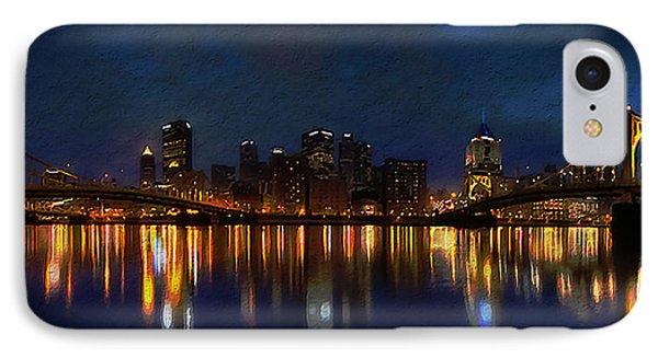 Pittsburgh Skyline 2 Phone Case by  Fli Art