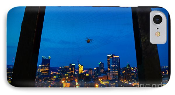 Pittsburgh Skyline At Night IPhone Case by Charlie Cliques