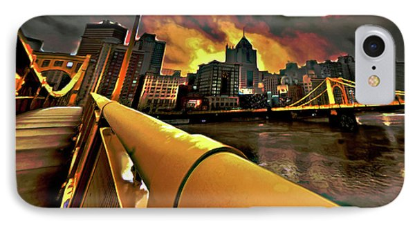 Pittsburgh Skyline IPhone Case by  Fli Art