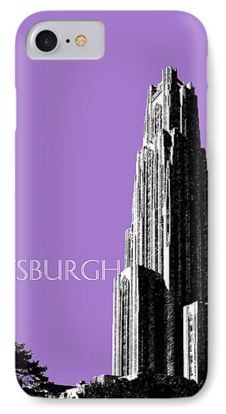 Pittsburgh Skyline Cathedral Of Learning - Violet IPhone Case by DB Artist