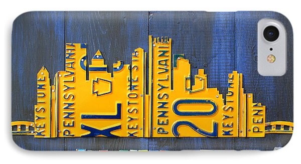 Pittsburgh Skyline License Plate Art IPhone Case by Design Turnpike