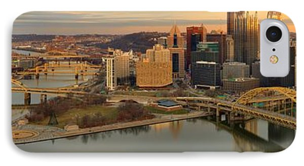 Pittsburgh Skyline Sunset Panorama IPhone Case