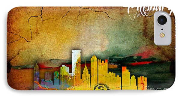 Pittsburgh Skyline Watercolor IPhone Case by Marvin Blaine