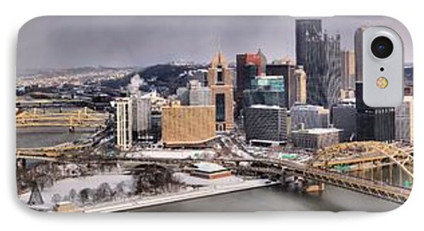 Pittsburgh Snowy Panorama IPhone Case