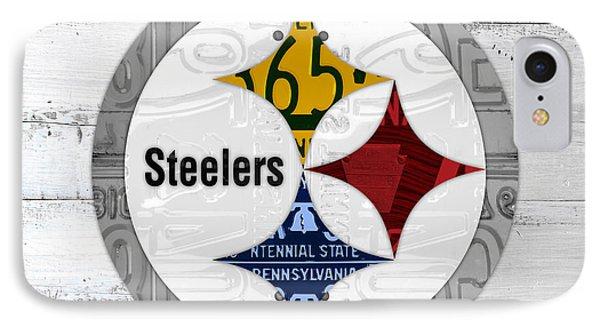 Pittsburgh Steelers Football Team Retro Logo Pennsylvania License Plate Art IPhone Case by Design Turnpike