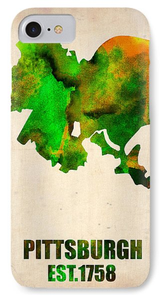 Pittsburgh Watercolor Map IPhone Case