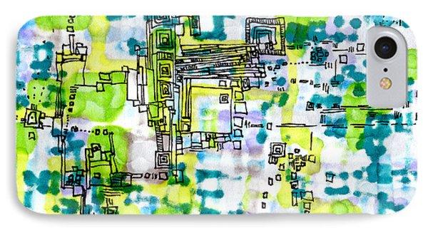Pixel Factory Phone Case by Regina Valluzzi