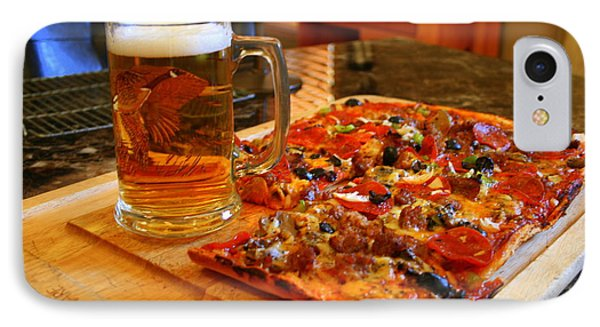 Pizza And Beer Phone Case by Kay Novy