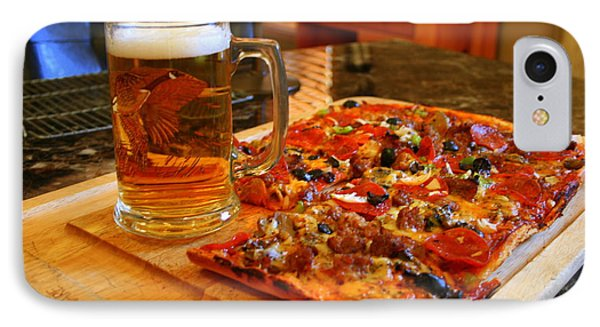 Pizza And Beer IPhone Case by Kay Novy