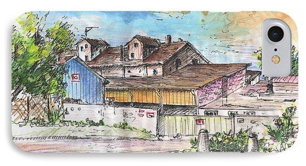 Place De La Gare In Soufflenheim IPhone Case by Miki De Goodaboom