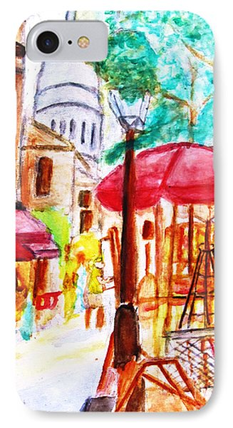 Place Du Tertre Of Paris IPhone Case
