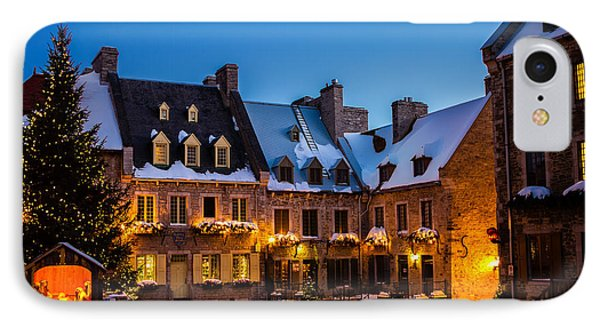 Place Royale Quebec City Canada Phone Case by Dawna  Moore Photography